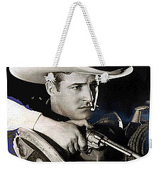 Tom Mix Portrait Melbourne Spurr Hollywood California C.1925-2013 Weekender Tote Bag by David Lee Guss