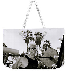 Tom Platz In Los Angeles Weekender Tote Bag by Shaun Higson
