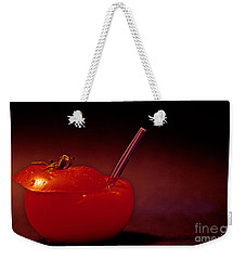 Weekender Tote Bag featuring the photograph Tomato Juice by Sharon Elliott