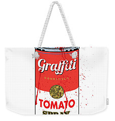 Tomato Spray Can Weekender Tote Bag