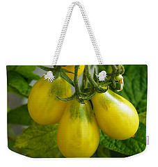Tomato Triptych Weekender Tote Bag by Brian Boyle