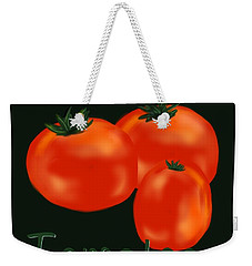 Tomatoes Weekender Tote Bag by Christine Fournier