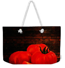 Tomatoes Weekender Tote Bag by Lourry Legarde