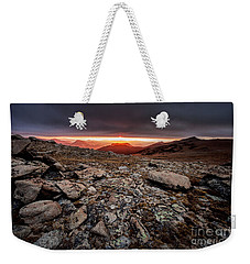 Weekender Tote Bag featuring the photograph Tombstone Sunrise by Steven Reed