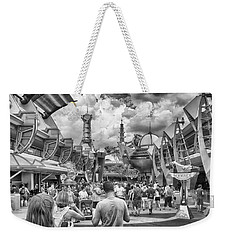Weekender Tote Bag featuring the photograph Tomorrowland by Howard Salmon
