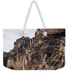 Weekender Tote Bag featuring the photograph Tongue River Canyon by Michael Chatt