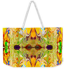 Weekender Tote Bag featuring the digital art Tony's Tower Abstract Pattern Artwork By Tony Witkowski by Omaste Witkowski