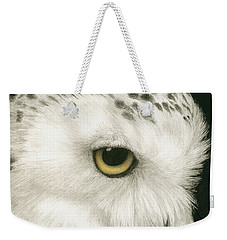Weekender Tote Bag featuring the painting Topaz In The Snow by Pat Erickson