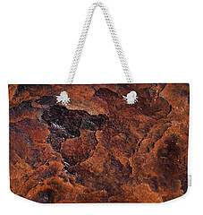 Topography Of Rust Weekender Tote Bag by Rona Black
