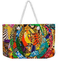 Weekender Tote Bag featuring the tapestry - textile Tor by Apanaki Temitayo M
