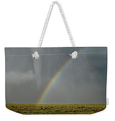 Tornado And The Rainbow Weekender Tote Bag by Ed Sweeney