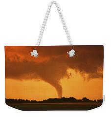 Tornado Sunset 11 X 14 Crop Weekender Tote Bag