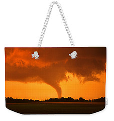Tornado Sunset Weekender Tote Bag by Jason Politte