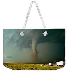 Tornado Truck Stop II Weekender Tote Bag by Ed Sweeney