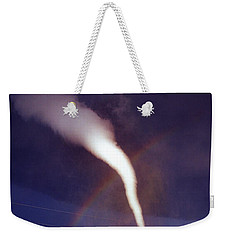 Tornado With Rainbow In Mulvane Kansas Weekender Tote Bag