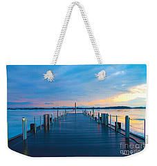 Toronto Pier During A Winter Sunset Weekender Tote Bag by Nina Silver