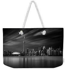 Toronto Skyline - 8 Minutes In Toronto Weekender Tote Bag by Ian Good