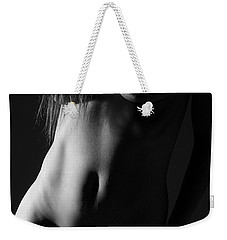 Torso In Black And White Weekender Tote Bag by Joe Kozlowski