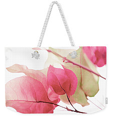 Touch Of Pink Bougainvillea Weekender Tote Bag by Fraida Gutovich