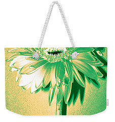 Touch Of Turquoise Zinnia Weekender Tote Bag by Sherry Allen