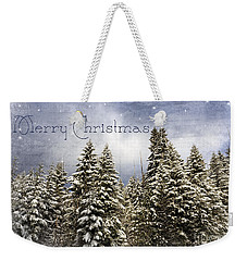 Touch Of Winter - Merry Christmas Weekender Tote Bag
