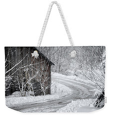 Touched By Snow Weekender Tote Bag by Joan Carroll