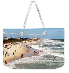 Tourist At Kure Beach Weekender Tote Bag