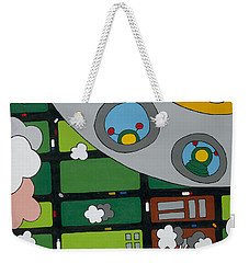 Tourists Weekender Tote Bag by Rojax Art