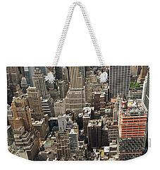 Tourists Viewing Downtown Manhattan Weekender Tote Bag
