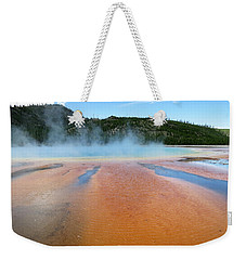 Weekender Tote Bag featuring the photograph Toward The Blue Stream by Laurel Powell