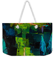 Weekender Tote Bag featuring the painting Toward The Tuscan Village by Elise Palmigiani