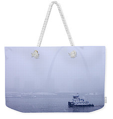 Towboat Working In The Snow St Louis Weekender Tote Bag