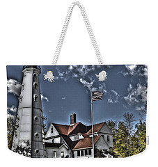 Weekender Tote Bag featuring the photograph Tower At North Point by Deborah Klubertanz