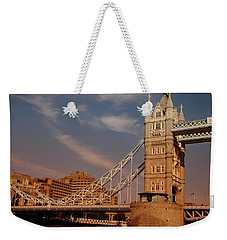 Weekender Tote Bag featuring the photograph Tower Bridge Sunset by Jonah  Anderson