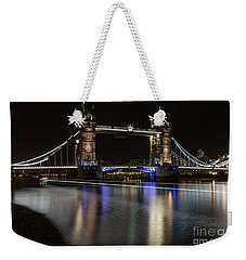 Tower Bridge With Boat Trails Weekender Tote Bag