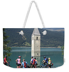 Tower In The Lake Weekender Tote Bag