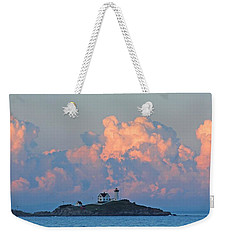 Towering Clouds Over Nubble Lighthouse York Maine Weekender Tote Bag