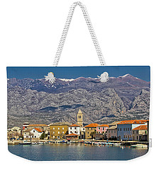 Town Of Vinjerac Waterfrot View Weekender Tote Bag by Brch Photography