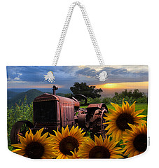 Tractor Heaven Weekender Tote Bag by Debra and Dave Vanderlaan