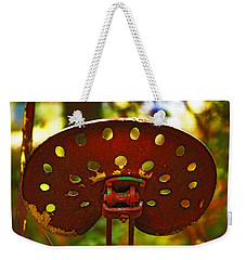 Tractor Seat Weekender Tote Bag by Rowana Ray