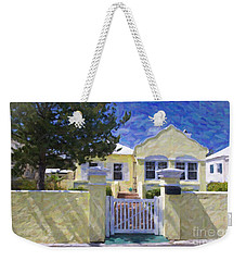 Weekender Tote Bag featuring the photograph Traditional Bermuda Home by Verena Matthew