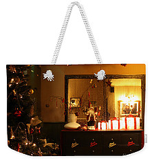 Traditional English Christmas Weekender Tote Bag