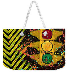 Traffic Jam Cropped Weekender Tote Bag