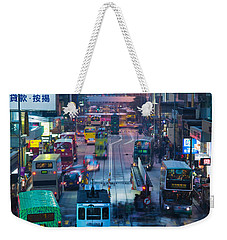Traffic On A Street At Night, Des Voeux Weekender Tote Bag