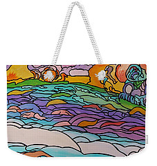 Weekender Tote Bag featuring the painting Tragic by Barbara St Jean