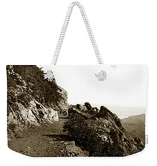 Weekender Tote Bag featuring the photograph Trail On Mt. Tamalpais Marin Co California Circa 1902  by California Views Mr Pat Hathaway Archives