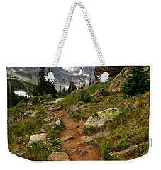 Trail To Lake Isabelle Weekender Tote Bag by Ronda Kimbrow