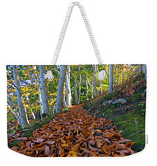 Weekender Tote Bag featuring the photograph Trailblazing by Dianne Cowen