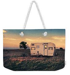 Trailer At Dusk Weekender Tote Bag by Jill Battaglia