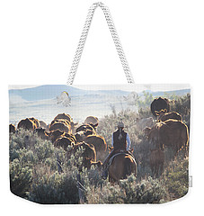 Trailing Cattle Weekender Tote Bag